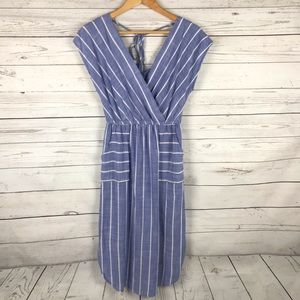 Universal Thread Striped Midi Dress Size S
